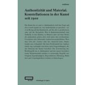 Authentizität und Material. Konstellationen in der Kunst seit 1900 20180350